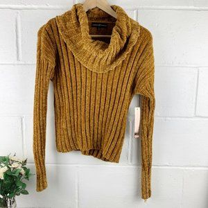 ALMOST FAMOUS Mustard/Yellow Cowl Neck Sweater